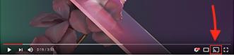 Cast button in Chromecast app