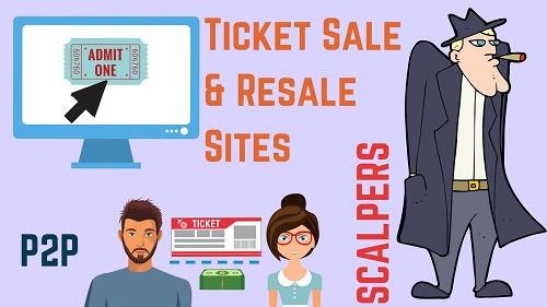 Ticket sale site, P2P sale, scalper