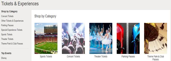 eBay Tickets website