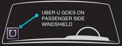 "Uber ""U"" sign"