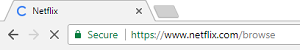 Netflix.com URL in web browser