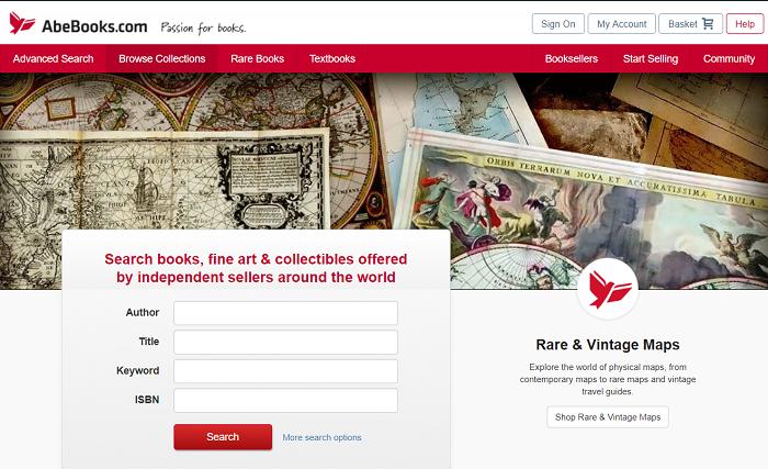 Abe Books website