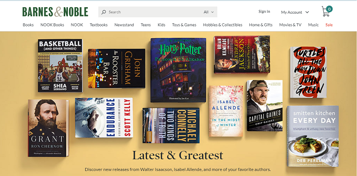 Barnes & Noble website