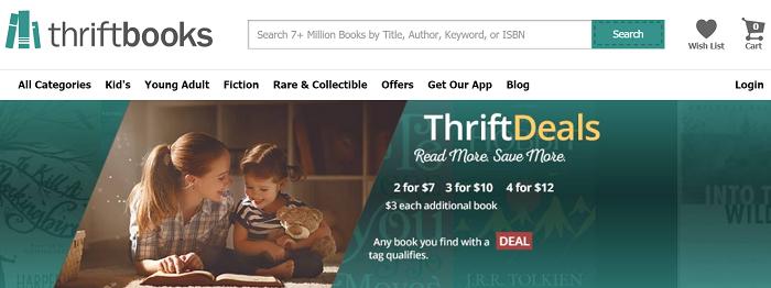 Thriftbooks website