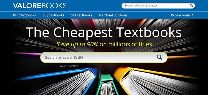 Valore Books website