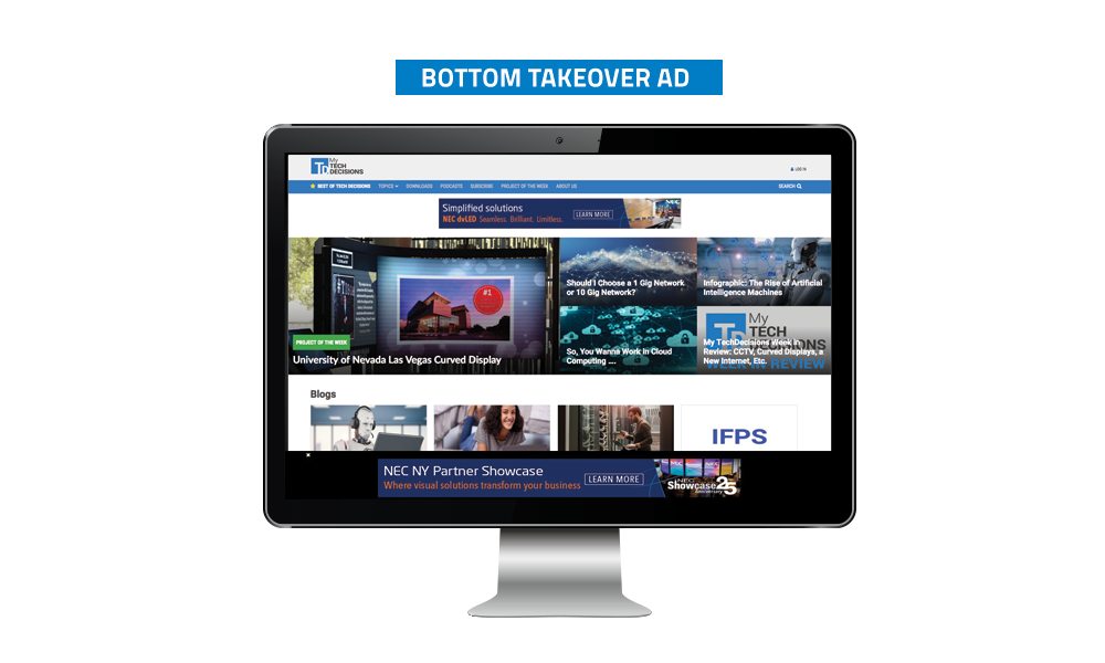 TechDecisions Banner Ads - Bottom Takeover