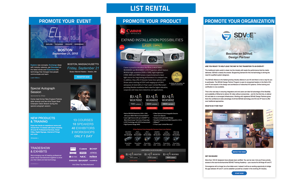TechDecisions - Targeted List Rentals