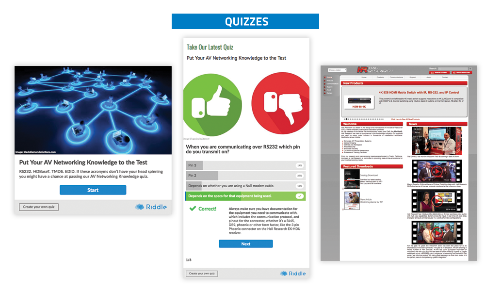 TechDecisions - Quizzes