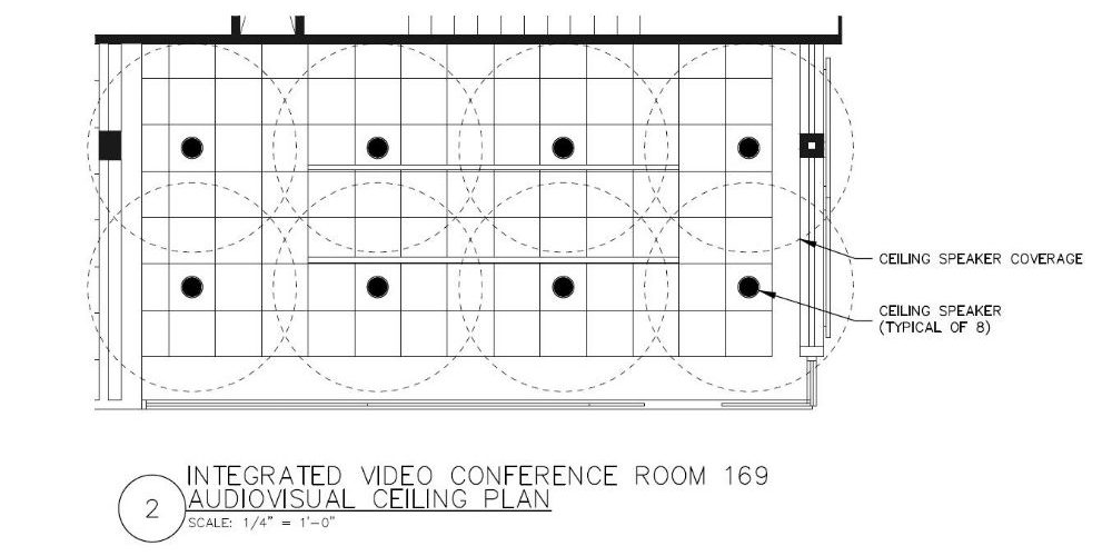 How to outfit audio for conference rooms of all sizes my techdecisions large conference rooms ceiling speaker coverage keyboard keysfo Gallery