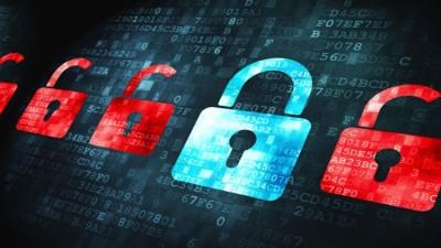 Cyber Security locks digital