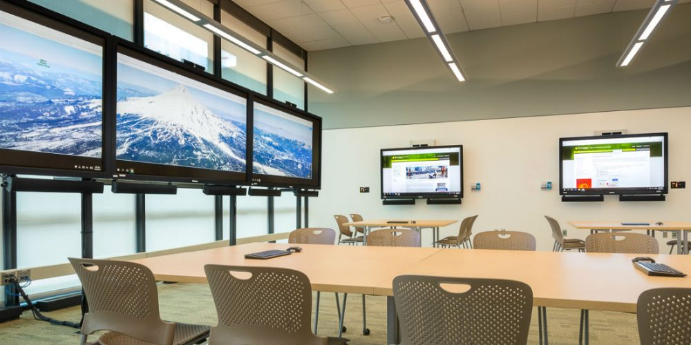 portland state university decision theater collaboration space