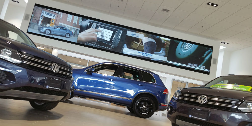 Humberview Volkswagen Video Wall My Techdecisions