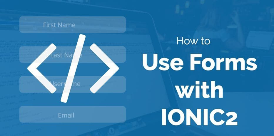 IONIC2 Forms