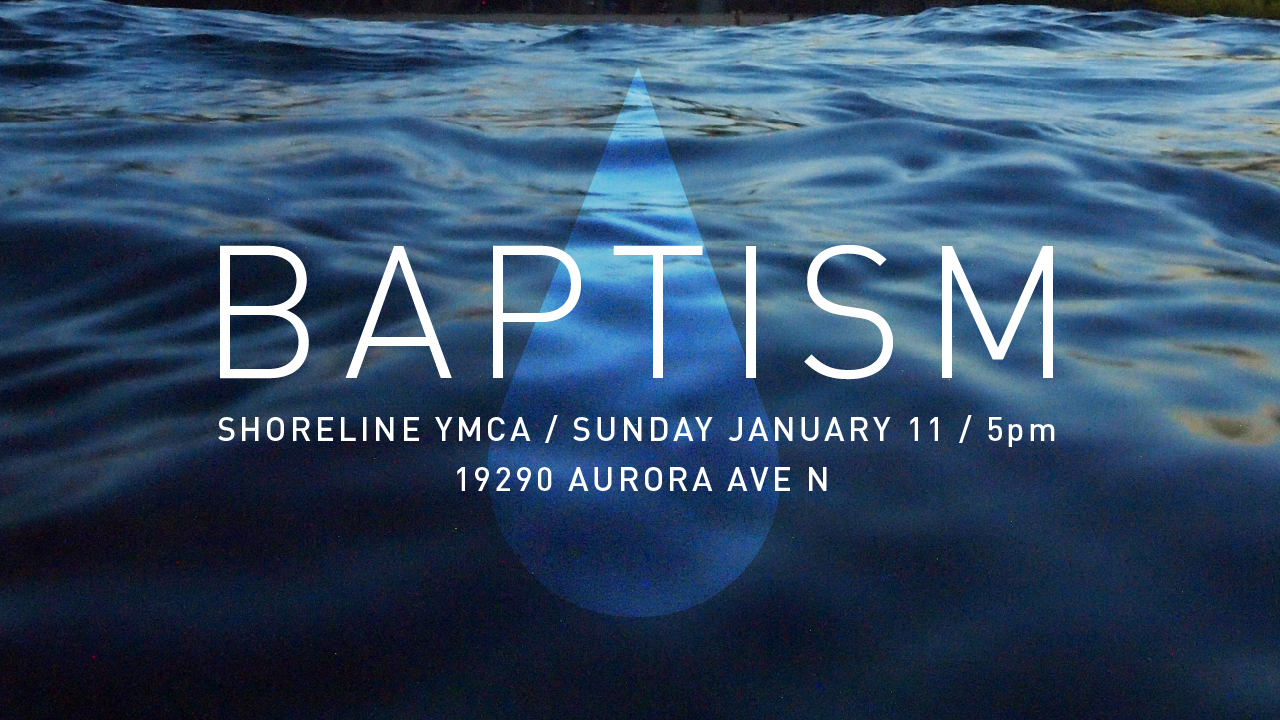 Baptism at Shoreline YMCA