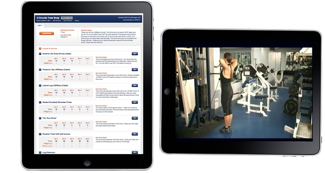 Screenshot: Workout Builder