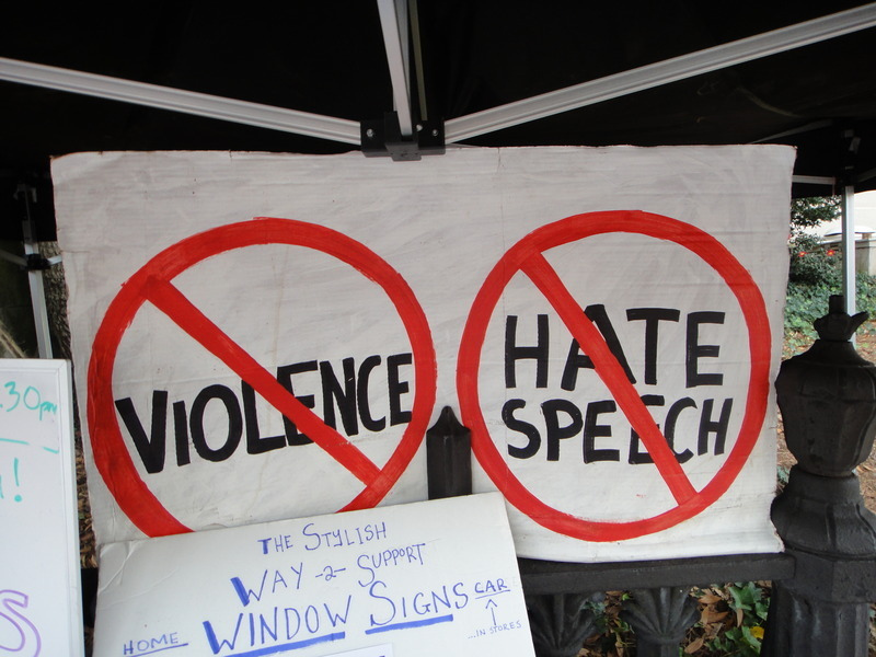 Hate speech social media fight