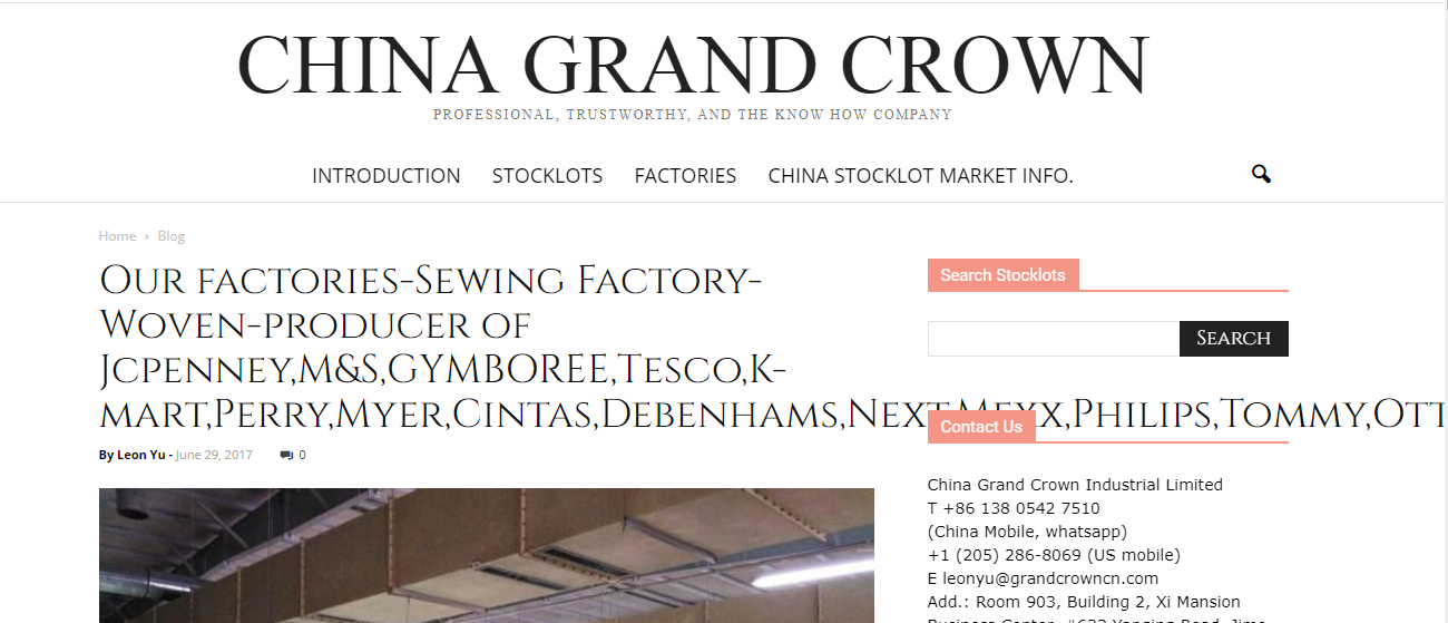 .China Grand Crown Industrial Limited