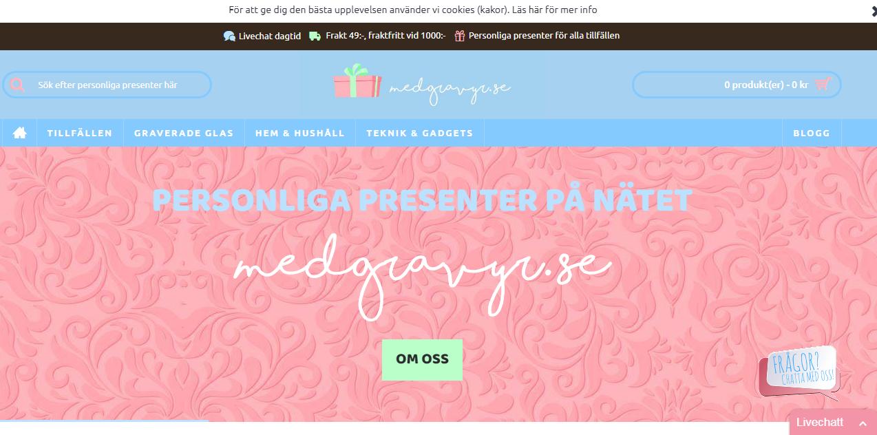 Medgravyr - Personliga presenter på nätet