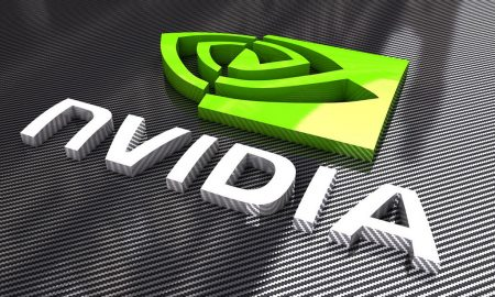 Logo of chip manufacturer Nvidia