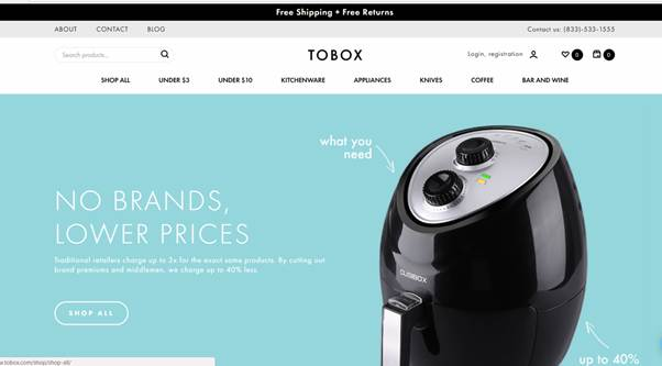 Tobox Online Marketplace For Kitchenware And Small Appliances