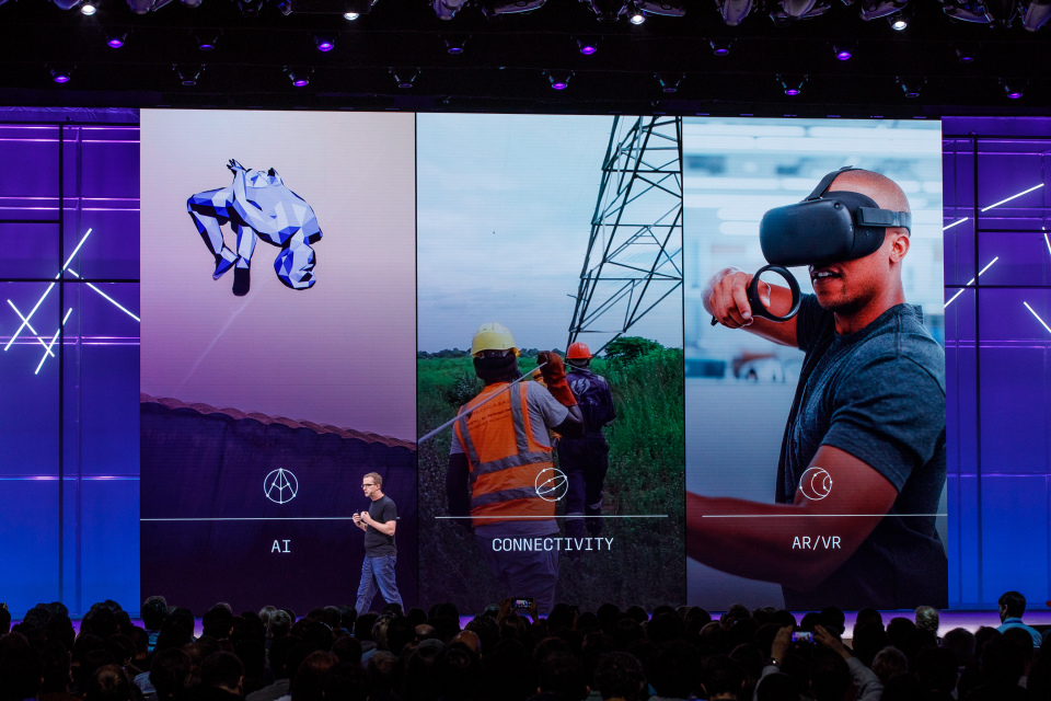 Facebook VR tech display