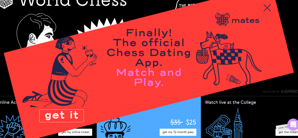 World Chess Dating app banner