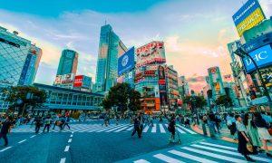 Japan road crossing