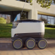 Starship robot in motion