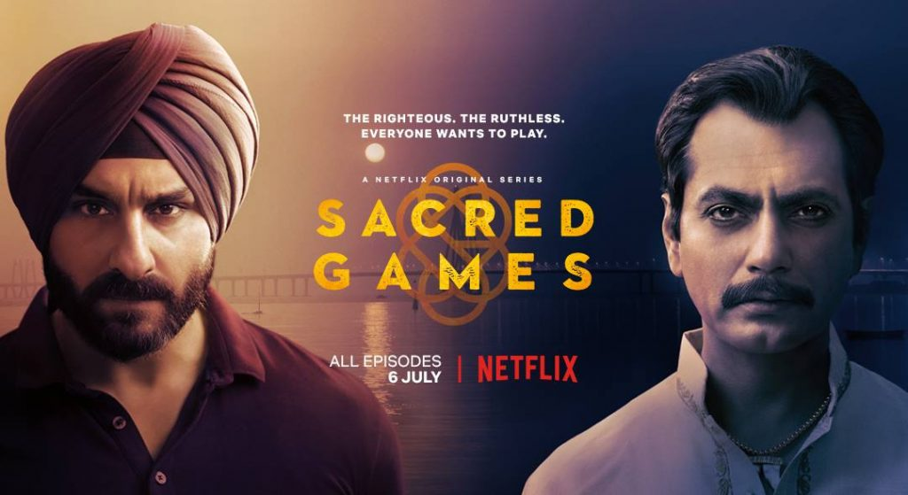 Netflix show poster of Sacred Games