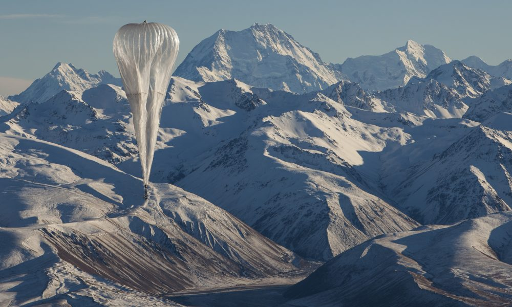 Project Loon Balloon in sky