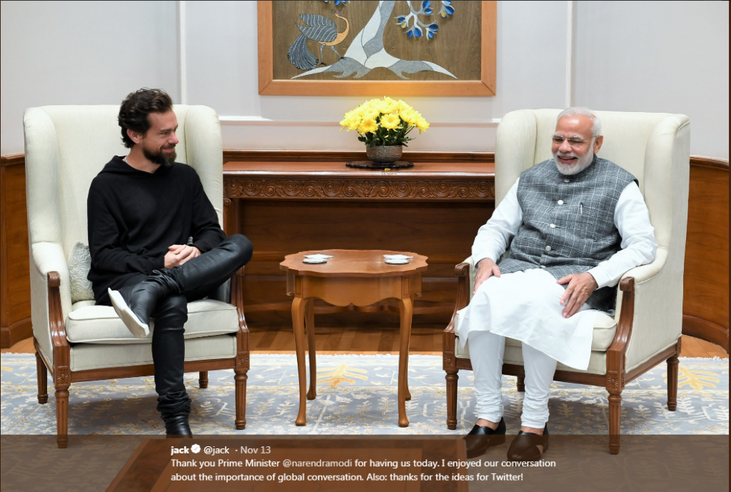 Jack Dorsey meeting PM Modi