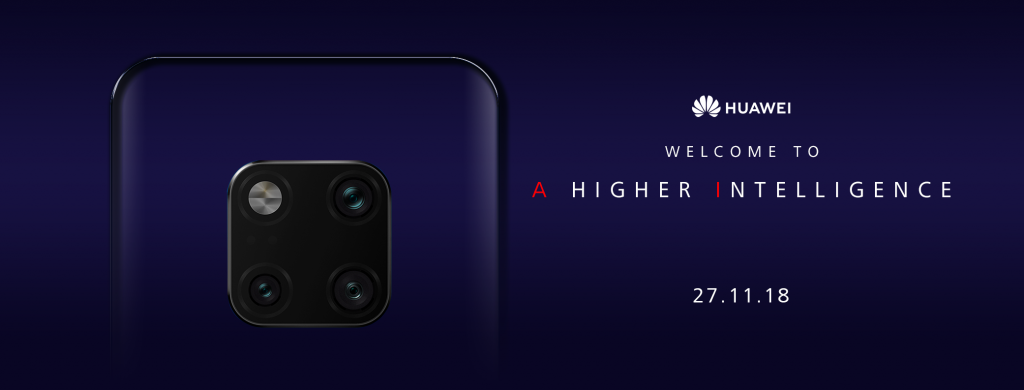 Latest launch of four camera Huawei mobile