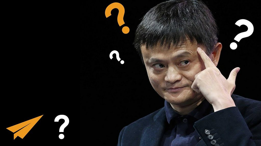 Jack Ma gesturing