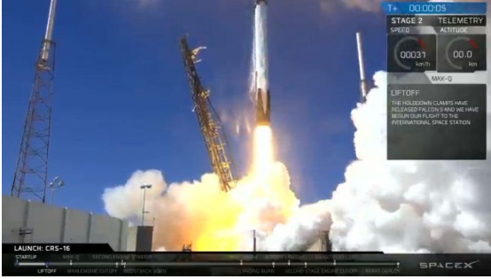 SpaceX Launches Cargo Ship to Space Station, Misses Rocket Landing