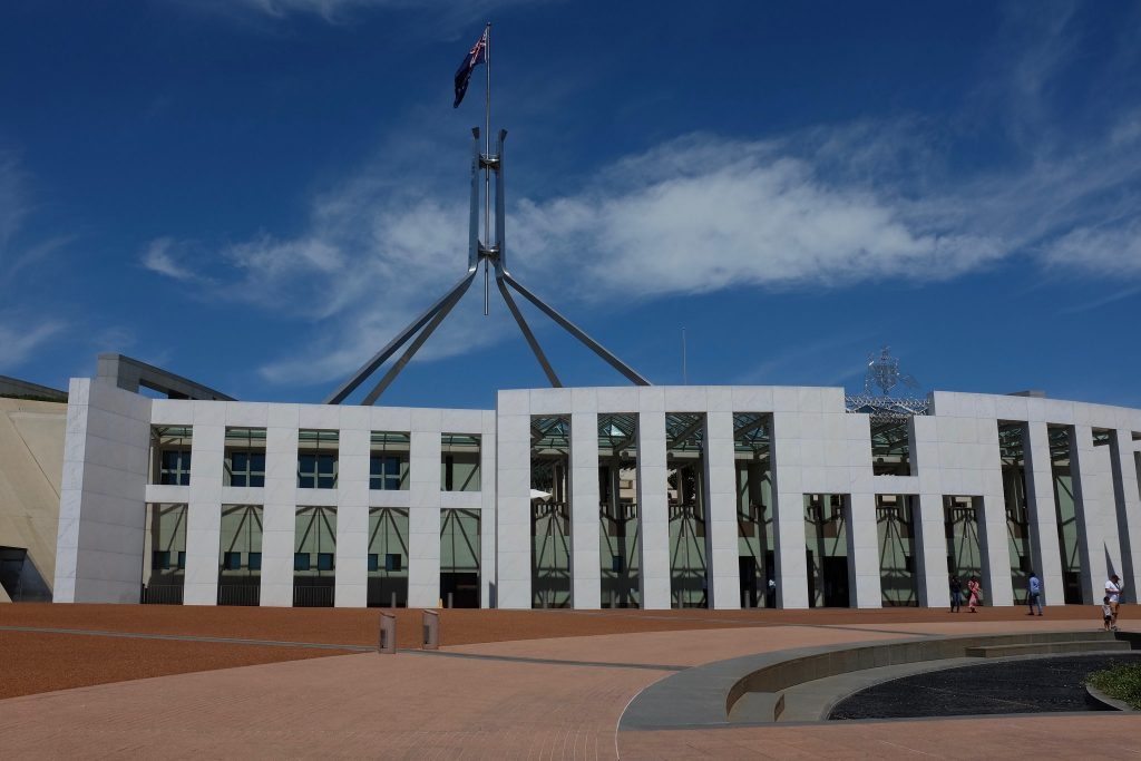 Day picture of Australia's parliament
