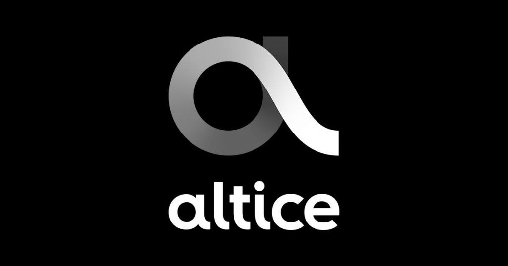 altice logo on black background