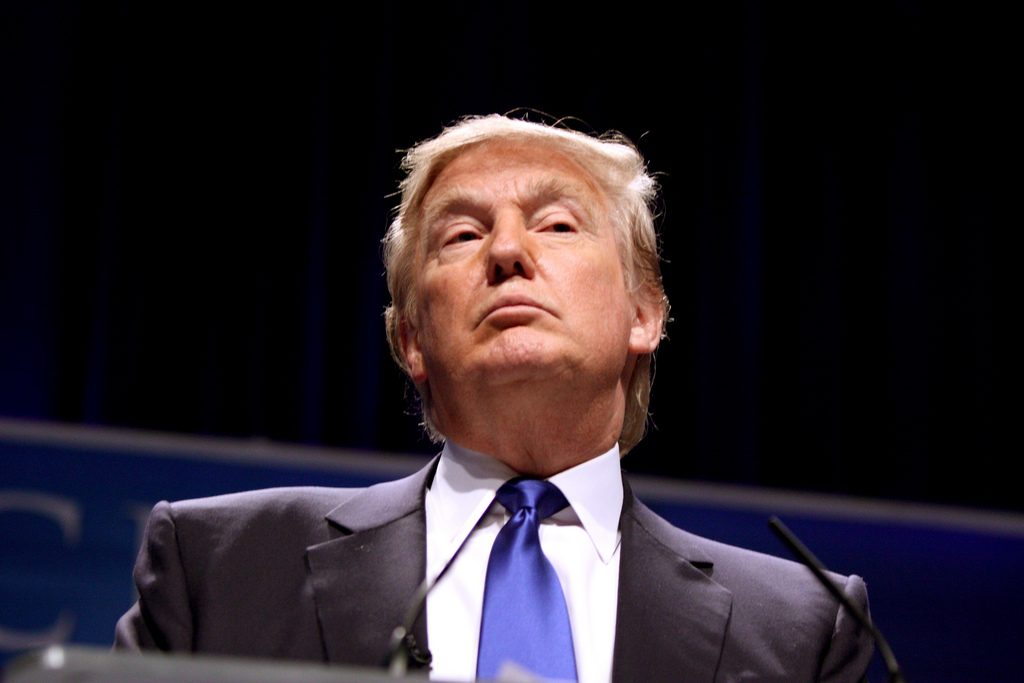 President Trump at a press event