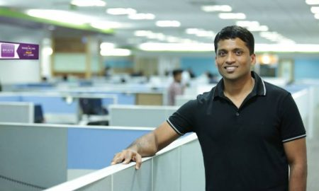 Byju Raveendran at Byju's Office