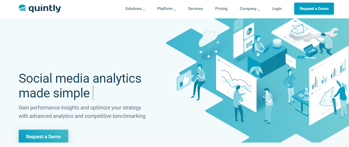 Quintly - social media analytics platform