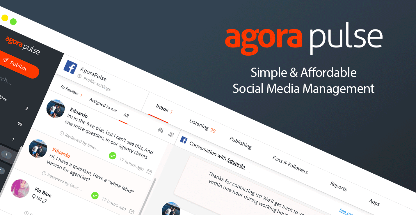 agorapulse - social media analytics tool
