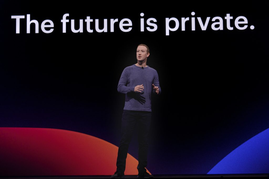 Mark Zuckerberg at a conferene