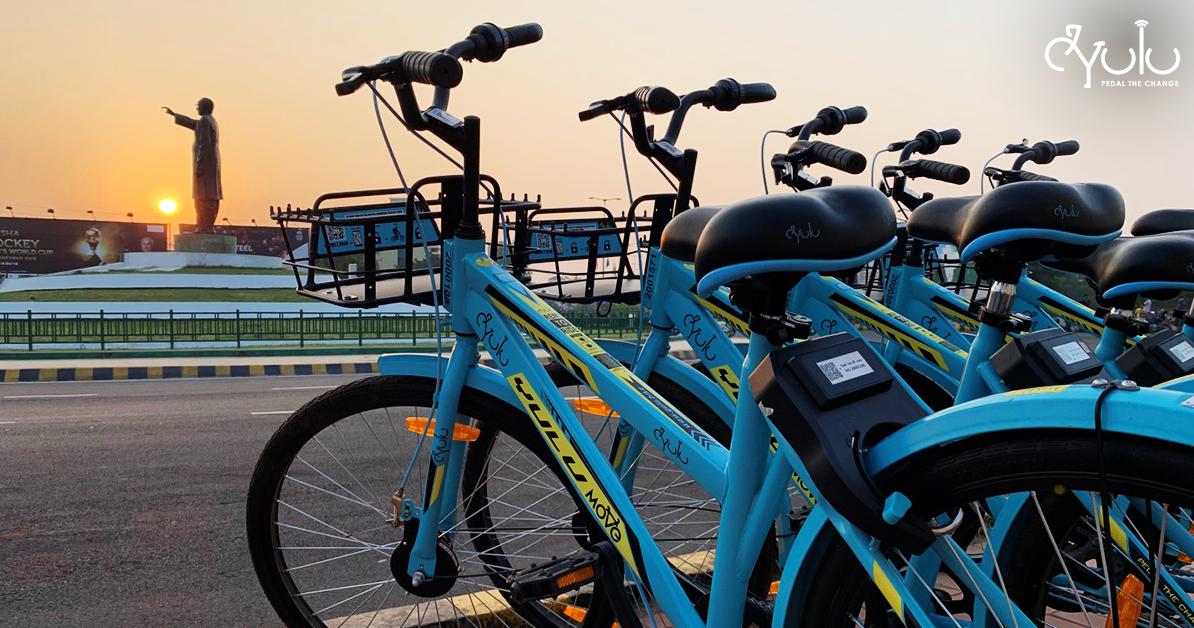 Yulu bicycles.