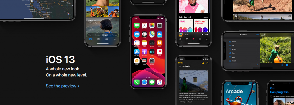Apple iOS 13 banner