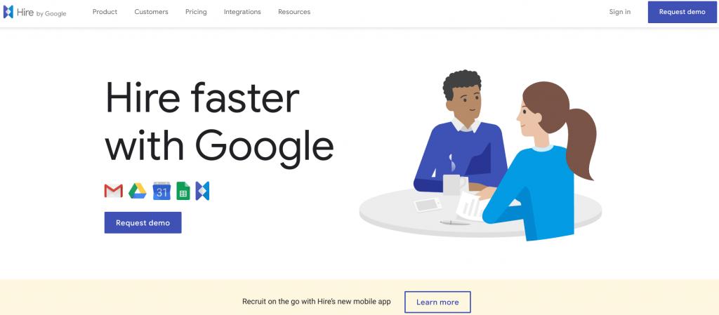 Google Hire screen shot