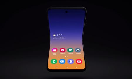 Samsung-horizontal-foldable-phone screen grab
