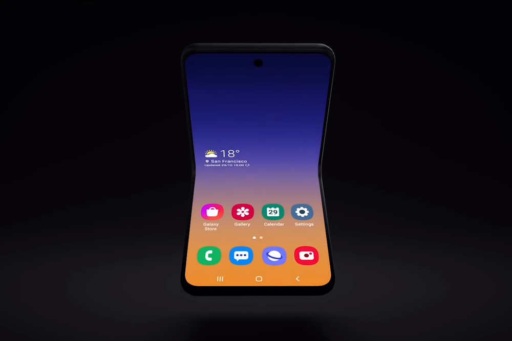 Samsung-horizontal-foldable-phone screen grab