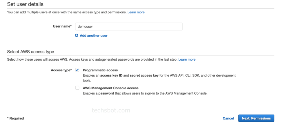 aws-user-permissions