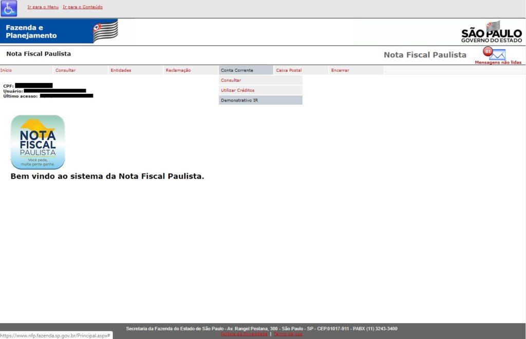 Nota Fiscal Paulista no Imposto de Renda