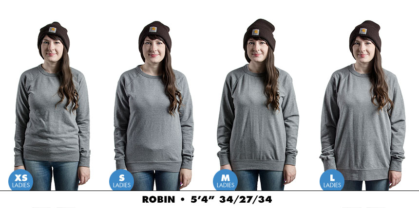 Crewneck female lightweight 4