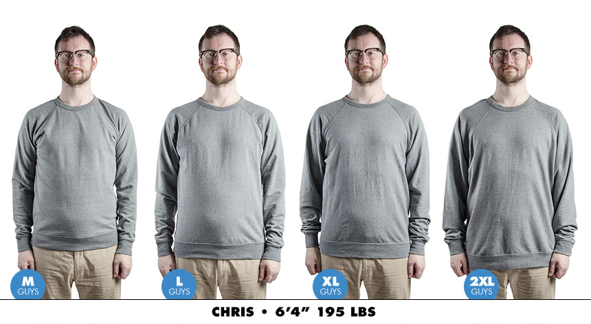 Crewneck male lightweight 3